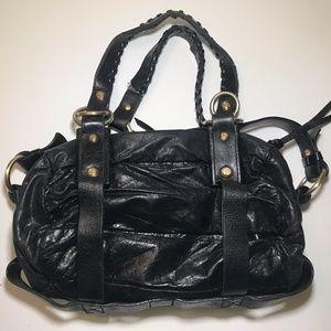 Francesco Biasia Designer Black Satchel Hand Bag